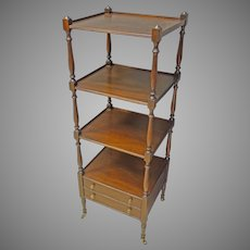 Narrow Mahogany Shelf, Stand, Etagere