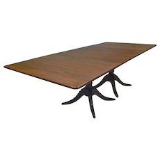 Pedestal Mahogany Dining Table