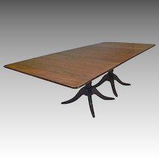 Pedestal Mahogany Dining Table