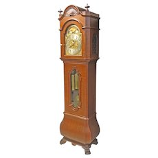 Mahogany Tall Case Grandfather Clock by Waltham Clock Co.