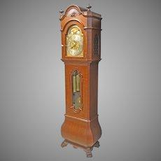 Mahogany Tall Case Grandfather Clock by Waltham Clock Co.