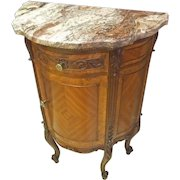 French Marble Top Stand, End Table