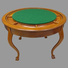 Flip Top Poker or Game Table, Metamorphic Furniture