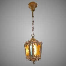 Stained Glass Hanging Hall Light