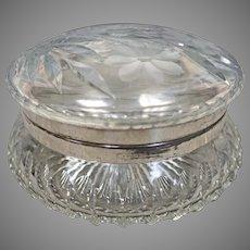 Large Cut Glass Dresser Jar