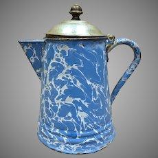 Blue Graniteware, Enamelware Coffee Pot