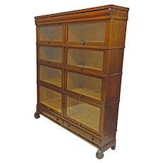 Double Wide Barrister Bookcase by Globe Wernicke