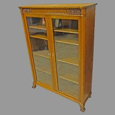 Oak 2 Door Bookcase