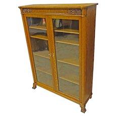 Oak 2 Door Bookcase