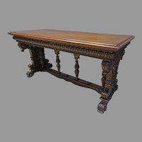 Carved Walnut Sofa Table