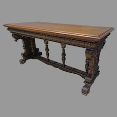 Carved Walnut Sofa Table