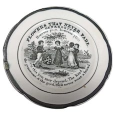 Early Ironstone Child's Motto Plate, English