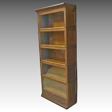 Oak 5 Stack Barrister Bookcase