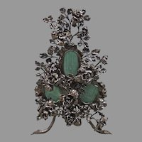 Mixed Metal Floral Frame
