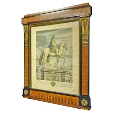 French Inlaid & Bronze Frame with Print Louis le Grand Dauphin
