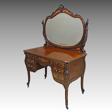 Inlaid Mahogany Vanity by Horner