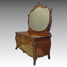 Inlaid Mahogany Dresser by Horner