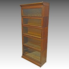 Oak Stacking Barrister Bookcase by Gunn