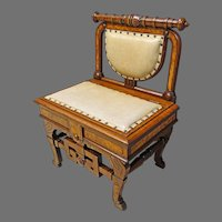 Victorian Music or Hall Seat with Lift Seat