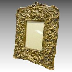 Bronze Frame with Cherubs