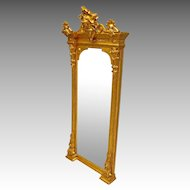 Gilt Victorian Hall Mirror