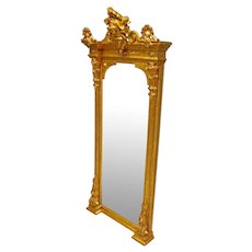 Gilt Victorian Hall Mirror