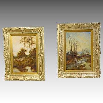 Pair of Oil Paintings by Joseph Paulman