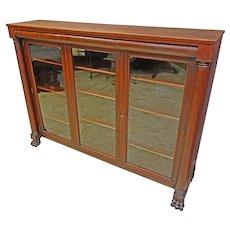 Mahogany 3 Door Bookcase