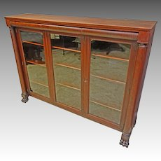 Mahogany 3 Door Bookcase