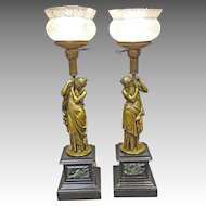 Pair Classical Lamps by Moreau