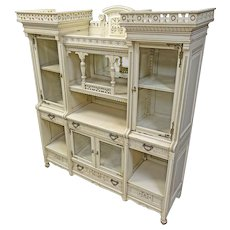 Painted Victorian Bookcase/Secretary