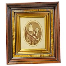 Victorian Deep Walnut Frame with Period Photo