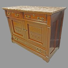 Victorian Marble Top Sideboard, Server