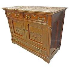 Victorian Marble Top Sideboard, Server