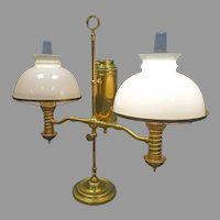 Double Brass Student Lamp