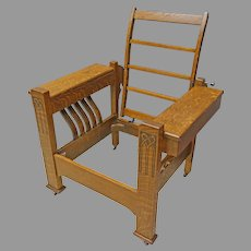 Oak Reclining Morris Chair, Arts & Crafts