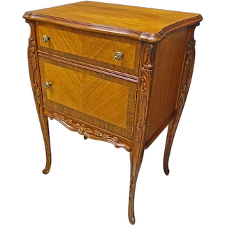 French Louis XV Style Satinwood Night Stand or End Table