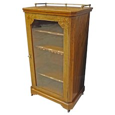 Victorian Inlaid Music Cabinet