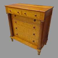 Empire Classical Cherry & Bird's Eye Maple Chest of Drawers or Dresser