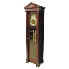 Mahogany Grandfather Hall Clock w. Westminster Chimes by Colonial