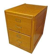 2 Drawer, Legal Size, Oak Filing Cabinet