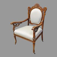Victorian Carved Armchair