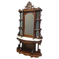 Rosewood Victorian Etagere, Display Curio