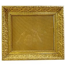 Deep, Ornate Gold Leaf Picture Frame
