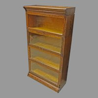 4 Stack Oak Barrister Bookcase by Hale