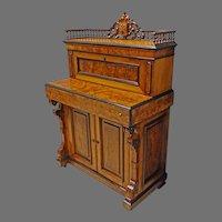 Victorian Walnut Desk with Secret Drawer