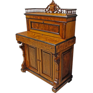 Victorian Walnut Desk with Secret Drawer