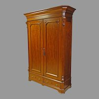 Victorian Walnut Wardrobe or Armoire