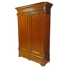 Victorian Walnut Wardrobe or Armoire