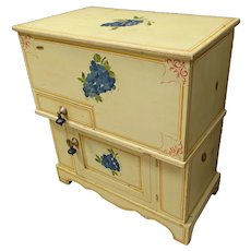 Painted Cottage Washstand or Dry Sink